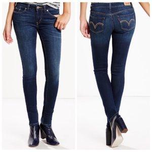 Levi's l Dark Wash Mid Rise Skinny Jeans